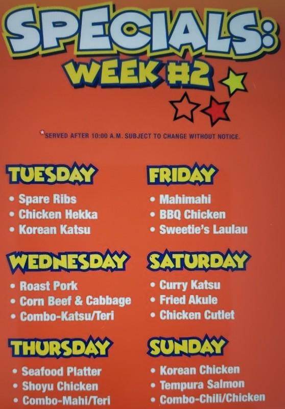 Specials Week 2